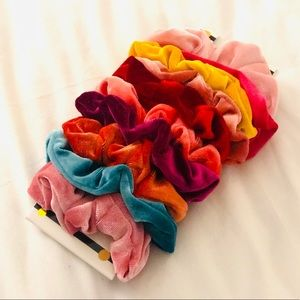 NWT Assorted Colors 10 pieces velvet Scrunchies